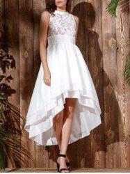Alluring Spaghetti Strap Bowknot Geometric Print Dress For Women (DEEP BLUE,L) | Sammydress.com Mobile