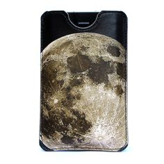 lunar landscape leather iPhone case $45 from tovicorrie on Etsy