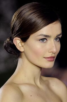A sophisticated, minimal #wedding #hair look. See more bridal beauty looks: http://ccwed.me/Izo9HA