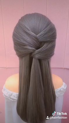 Hairstyles For Medium Length Hair Tutorial, Hair Tutorials For Medium Hair, Bun Hairstyles For Long Hair, Braids For Long Hair, Bandana Hairstyles, Front Hair Styles, Short Hair Styles Easy, Medium Hair Styles, Hair Style Vedio