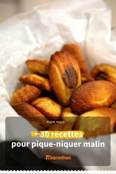 Small takeaway recipes, picnic, office, park, mountain or even the beach # Desserts Français, French Desserts, Wine Recipes, Food Network Recipes, Cooking Recipes, Easy Nutella Brownies, French Cookies, Food Is Fuel, Batch Cooking