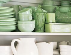 I love Fire King jadeite! Have a collection.