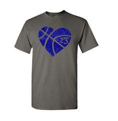 Basketball Shirt. Basketball Mom. Glitter by TNTCustomApparel