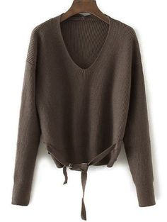 SHARE & Get it FREE | V Neck Loose String SweaterFor Fashion Lovers only:80,000+ Items • New Arrivals Daily • Affordable Casual to Chic for Every Occasion Join Sammydress: Get YOUR $50 NOW!