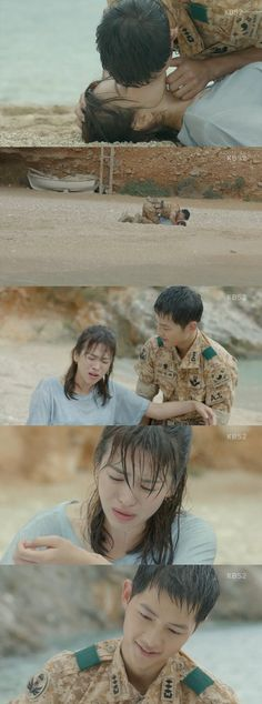 [Spoiler] 'Descendants of the Sun' Song Joong-ki and Song Hye-kyo's romantic CPR: Does this count as their second kiss @ HanCinema :: The Korean Movie and Drama Database