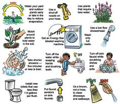 Alicia Clough - Water Conservation Methods - I pinned this because it is important to not only let people know about the global water shortage; but also provide ideas that individuals and communities can do to help. Save Water Save Life, Ways To Save Water, Save Water Essay, Wow Journey, Water Saving Tips, Water Kids, Water Art, Water Water, World Water Day
