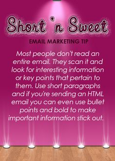 email marketing tip 8 10 Email Marketing Tips [images] | Sarah Arrow