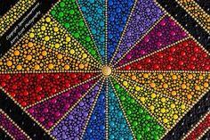 Hand painted colourful rainbow dot art painting 128 | Etsy Mandala Art, Mandala Design, Mandala Canvas, Mandala Painting, Mandala Pattern, Rainbow Painting, Dot Art Painting, Painting Patterns, Painted Rocks