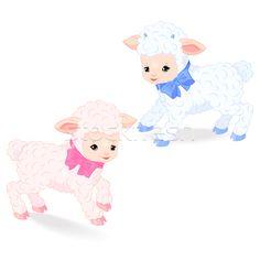 Little lambs - Векторная графика  - пользователем Maiia Shekmar (Mayamy) - Stockfresh #5153430