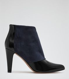 Reiss Blue Dionne Two-Tone Ankle Blue Navy/Black Boots Size: 9New with tags 44% off Retail WAS $340.00 NOW $190.00