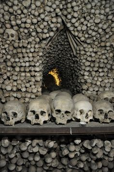 The Sedlec Ossuary is a small Gothic church in the Czech Republic. It is adorned with the bones of some 40,000 people (some say up to 70,000), most of them victims of the Black Death.