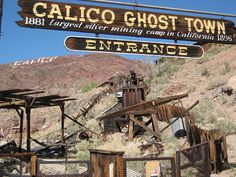 Calico Ghost Town, California, former silver mine and its former town