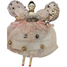 Very Rare Grodnertal Fairy in Display Box with Sheep