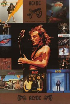 An awesome poster of the AC/DC album covers from High Voltage to Stiff Upper Lip with a great shot of Angus Young doing what he does best! Fully licensed - 2004. Ships fast. 24x36 inches. You'll be Th