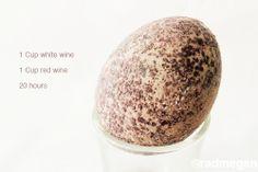 wine natural Easter egg dye