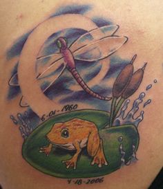 dragonfly and frog tattoo