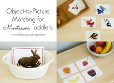 The Kavanaugh Report: Object-to-Picture Matching for Montessori Toddlers Montessori Toddler, Montessori Materials, Montessori Activities, Montessori Bedroom, Learning Games For Kids, Baby Learning, Activities For Kids, Infant Sensory Activities, Language Activities