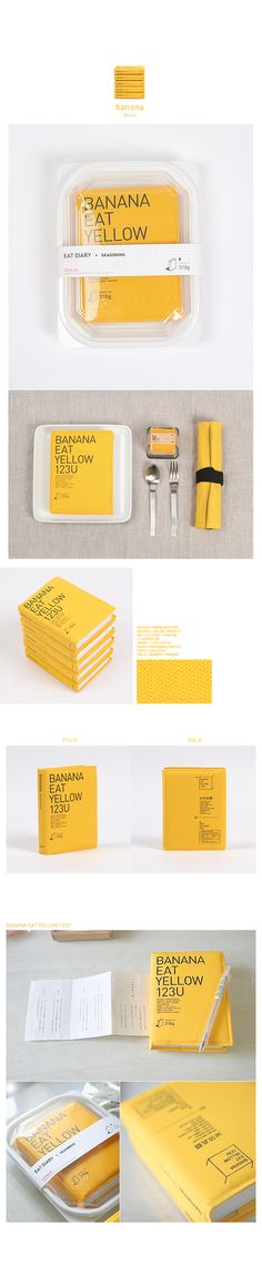 Agenda Eat | Alternative yellow book on plastic packaging | Editorial design