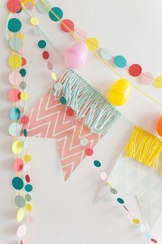 Easy sew DIY party garlands