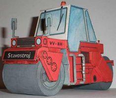 Road Roller VV-8H Free Construction Vehicle Paper Model Download