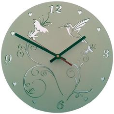 UBERCOOL DESIGNS | Hummingbird Wood Clock - Homeware - 5rooms.com