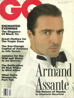 ARMAND ASSANTE, GQ December 1991