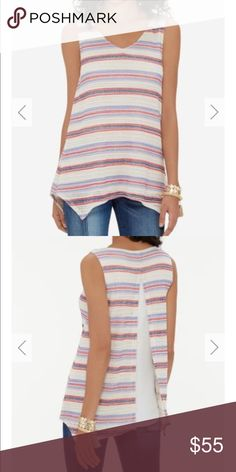 🆕 The Limited Striped Split Back Top The Limited. brand-new with tag.Striped Split Back Top. Various size available. Bundle to save. Soft striped knit, jersey knit underlay Split back 60% Polyester/40% Rayon; Lining: 95% Rayon/5% Spandex Machine wash. Line dry. Imported (3.25) The Limited Shirts