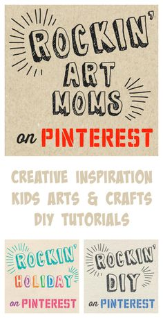 The Rockin' Art Moms is a group of kids art blogs that are must-follow for kids arts and crafts, creative inspiration, and DIY tutorials.