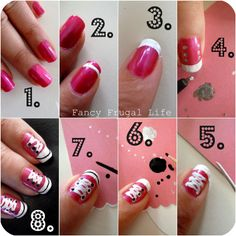 Tuto Converse nail art!