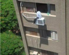 Note to self...remember where you put your bottle of Sprite. #HVAC #Fail