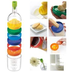 Kitchen Cooking Tools 100 Origin 8 in 1 Kitchen Tool Set Multipurpose Kitchen Accessories Gadget Kitchen Bottle Tools By gangnumsky Cooking Equipment, Cooking Tools, Cooking Rice, Cooking Gadgets, Egg Cracker, Rainbow Kitchen, Pose, Functional Kitchen, Kitchen Tools And Gadgets