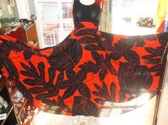 Vintage CarLette Red and Black Leaf Pattern by VintageDoylestown, $84.00