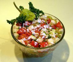 Moldovan Tomato Cucumber And Pepper Salad Recipe - Genius Kitchen Lunch Recipes, Salad Recipes, Top Recipes, Family Recipes, Yummy Recipes, Russian Dishes, Mozzarella Salad, Europe, Salads
