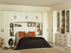 Image result for wardrobes either side of bed