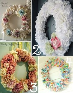 15 Spring Wreath Ideas~The Scrap Shoppe Blog