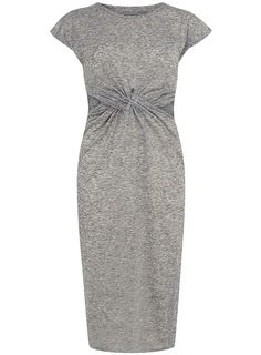 Grey jersey twist midi dress - View All - Dresses - Dorothy Perkins United States