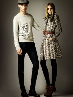 I want the dog sweater.....Burberry Prorsum Pre-Fall 2012