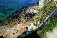 Peering over the edge. Slices of sea/sand/rock/grass . Harry Rocks, Grass, Sunshine, Colours, Sea, Landscape, Water, Outdoor, Inspiration