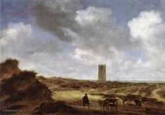 Salomon van Ruysdael - View on the Dutch village Egmond aan Zee (1640)