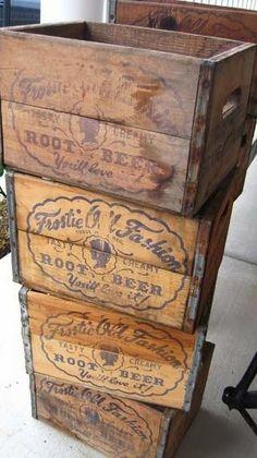 Retro Soda Pop Crates