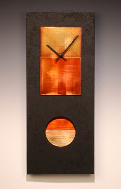 Black Pendulum Clock: Leonie Lacouette: Metal & Wood Clock - Artful Home