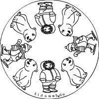 Inuit-Eisbär-Pinguin-Mandala