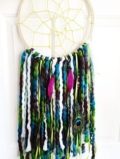 Green and purple dream catcher !