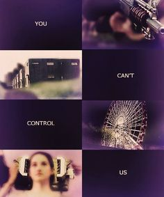 """They can't control us."""