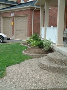 Exposed Aggregate walkway and garden border