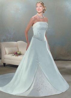 Belle Robe de mariée avec des Broderies