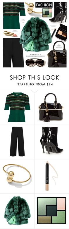 """Green and black"" by cilita-d ❤ liked on Polyvore featuring Marni, Love Always, TIBI, Balenciaga, David Yurman, NARS Cosmetics, ESCADA and Yves Saint Laurent"