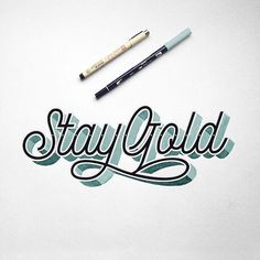 """Goodtype   Strength In Letters on Instagram: """"""""Stay gold"""" by @pedrodelabebida. #StrengthInLetters #Goodtype"""""""