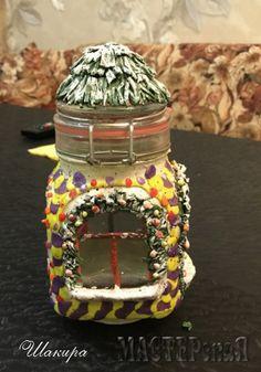 1f79de3b1aee Работа Декор баночкир автор Шакира, в технике Полимерная глина (пластика),  Лепка