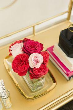 Pretty red + pink roses: http://www.stylemepretty.com//living/2015/01/30/love-drunk-valentines-day-inspiration/   Photography: Krista Jones - http://kristaajones.com/: